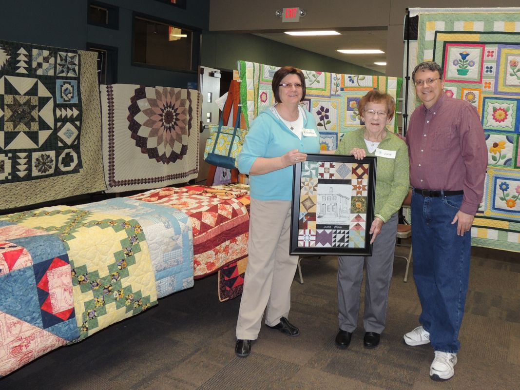 BCHS recognizes June Wise's 14 years of dedication to the Quilt Show