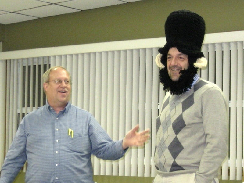We have fun at our Bond County Historical Society meetings!