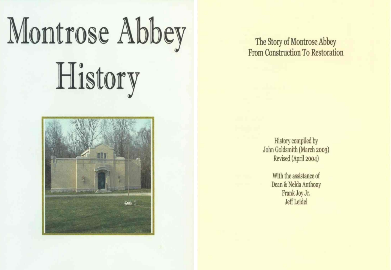 Montrose Abbey History Book