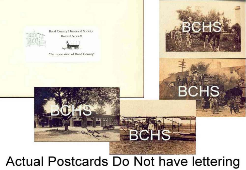 Postcard Set #2: Transportation in Bond County
